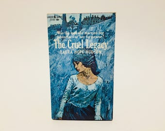 Vintage Gothic Romance Book The Cruel Legacy by Laura Hope Hudson 1967 Paperback