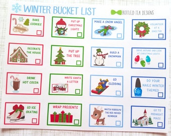 Winter Bucket List (Set of 16) Item #362