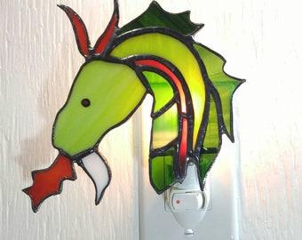 Dragon stained glass Nightlight, nursery children, birthday gift, kids gift
