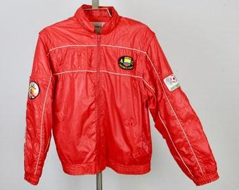 Vintage 1986 Mens / Unisex Convertible Jacket / Vest, Soccer Theme