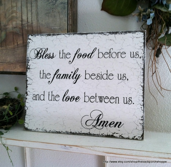 Kitchen Blessing Wall Decor: BLESSING SIGN Kitchen Signs Family Signs Kitchen Decor 10