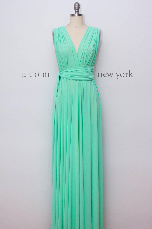 Green Mint LONG Floor Length Ball Gown Maxi Infinity Dress