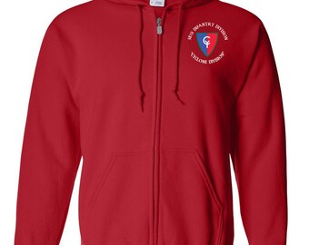 38th Infantry Division Embroidered Hooded Sweatshirt w/ Zipper-7494