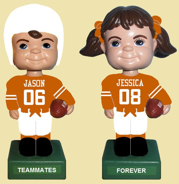 Items similar to Texas Longhorns Football Custom Bobbleheads Wedding ...