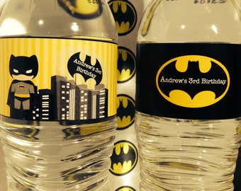 Batman Party PRINTABLE Water Labels by Love this Moment Party!