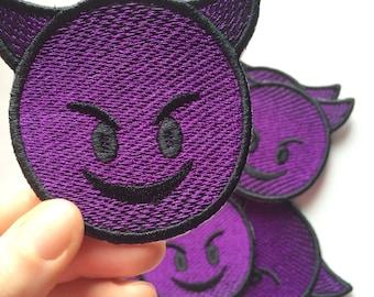 "Emoji ""Smiling Face With Horns Devil"" patch"