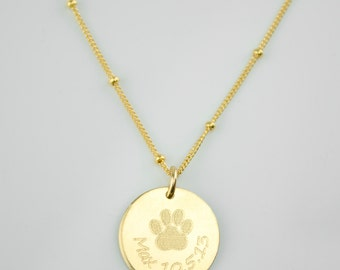 Dog necklace personalized, custom paw print necklace, pet necklace, in memory of dog, pet memorial jewelry memorial jewelry personalized dog