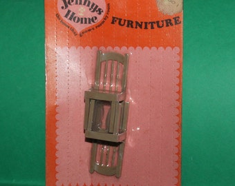 Vintage Dolls House Triang Jennys Home Chairs On Original Card KM674