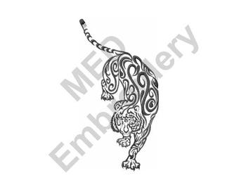 Tiger - Machine Embroidery Design, Tiger Tattoo
