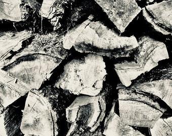 L'hiver Firewood Timber #6 Scenic Winter Photograph