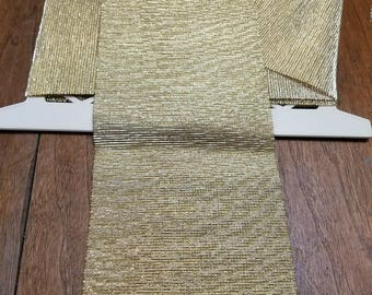 Wide Gold Lame Stretch Trim Over 3 Yards
