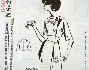 Spadea NS-268 Vintage Designer Pattern Lachasse Of London 1960's Cropped Jacket Factory Folded
