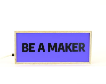 Lightbox Be Long / Be Chatty customize / Be a maker