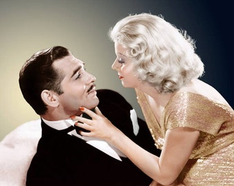 Clark Gable & Jean Harlow in a studio photo from the film Saratoga. 1937