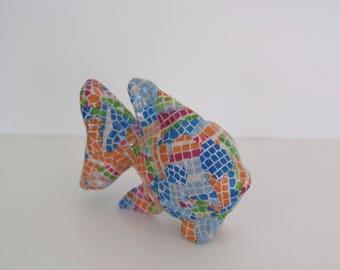 Decorative fish-shaped mosaic pattern