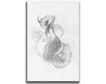 Scab: Sea Serpent 5.5 x 8.5 Art Print