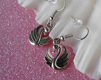 Swan Earrings