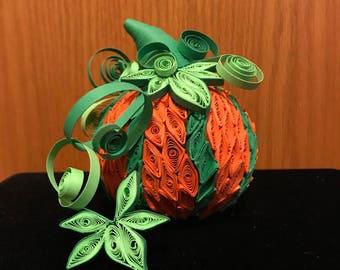 Pumpkin 3D Quilled Paper