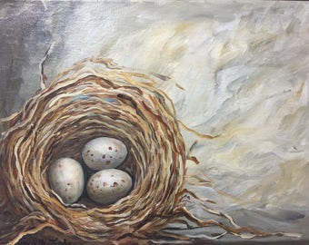 Nest Painting custom painted just for you Choose your favorite colors and the number of eggs in your nest.