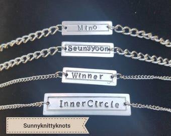 Winner Kpop Name Bracelets