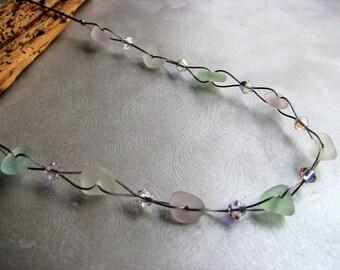 Genuine Seaglass -Pastel Sea Glass Necklace-Sea Glass Jewelry-Beach Glass Necklace -Prince Edward Island Sea Glass -Mothers Day Gift