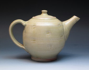 Jim Malone Stoneware Teapot, Ray Finch Apprentice and Ex Winchcombe Potter Jim Malone, Hand Thrown Studio Pottery Teapot, Handmade Teapot