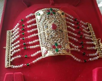 Bracelet Pakistan Indian bangle kalai bazoband jewellery costume pear