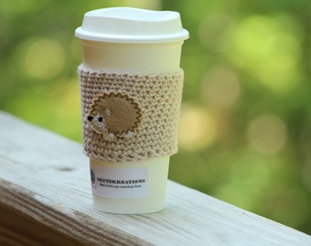 Coffee sleeve, cup cozy, cup sleeve, Coffee cozy, Fairytale gift, coffee gift, gift mom gift, best friend gift, coworker gift, hedgehog gift