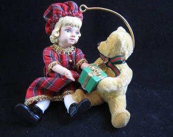 "Hallmark Keepsake Ornament 1994 - ""Lucinda and Teddy"" - Special Edition - New In Box"