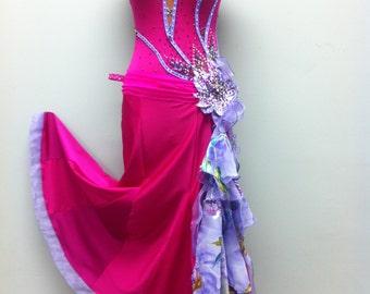 Pink Ballroom  Dance Dress