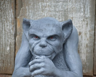 hand painted GARGOYLE  GARDEN ARCHITECTUAL devilish halloween devil