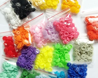 Snap buttons for baby clothes 12 mm round plastic press studs fasteners