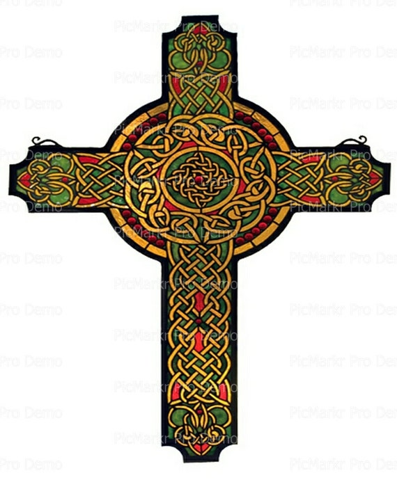 Celtic Cross - Edible Cake and Cupcake Topper For Birthday's and Parties! - D9197