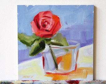 Flower painting, original flower painting, oil painting