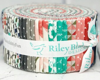 """Last one! Riley Blake Fabrics - Heart and Soul by Deena Rutter Rolie Polie 2.5"""" Fabric Quilting Strips Jelly Roll 40 count RP-6700-40"""