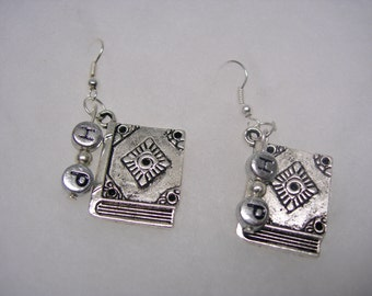 Harry Potter  ( Book of Spells )  Earrings on 925 SS Earwires