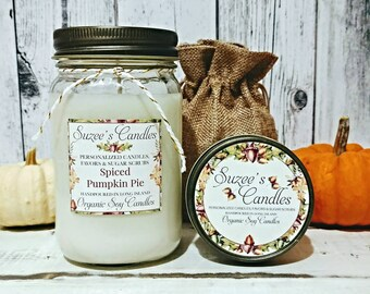Pumpkin Soy Candle - Soy Candle - Fall Candle - Pumpkin Candle - Autumn Candle - Handmade Candle - Pure Soy Candle - fall pumpkin candles