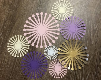 Paper flower centers