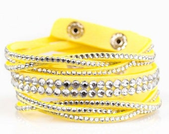 Glamorous Yellow Break -Away bracelet
