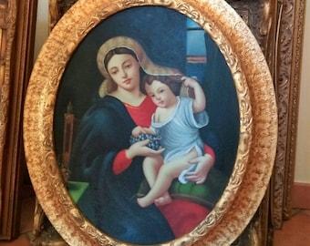 Grape Madonna and child