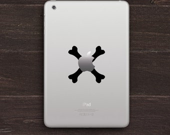Apple Bones, Crossed Bones Vinyl iPad Decal BAS-0262