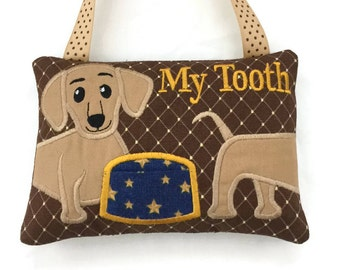 Child's Tooth Fairy Pillow - Animal Tooth Fairy Pillow - Dachshund Tooth Fairy Pillow - Kids Tooth Fairy Pillow