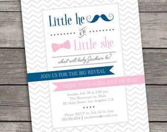 Gender Reveal Invitation - Printable - Digital