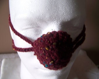 Claret Fleck Tweed Nose Warmer