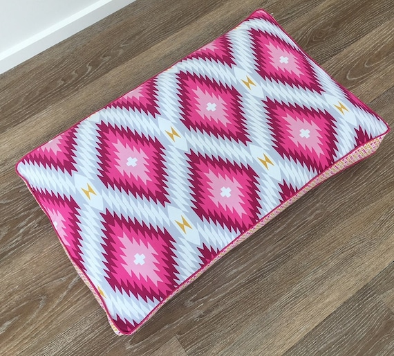 'Nala' hot pink aztec Dog Bed with insert -  pet bed - SMALL, MEDIUM, LARGE