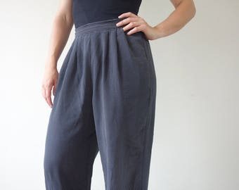 High Waisted 80s Trousers Polka Dot with Pockets