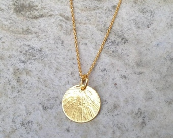 Gold pendant necklace etsy aloadofball Image collections