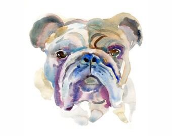 Custom Pet Portrait, Pet Portrait, Watercolor Painting,Dog Portrait, Dog Lover, Gift, Bulldog