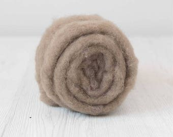 Needle Felting Wool, Maori, 50 grams (1.75 oz), Earth.