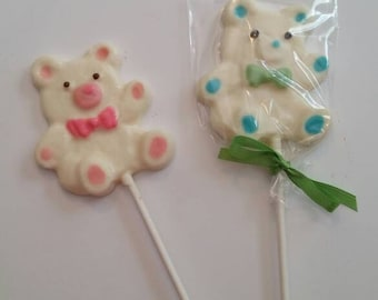 Teddy Bear Chocolate Lollipops